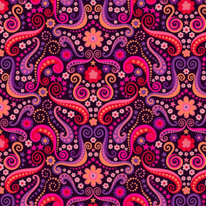 Pschadelic 70s garnet and amethyst large by Pippa Shaw
