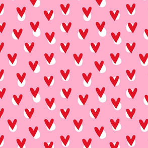 Hearts - Pink & Red