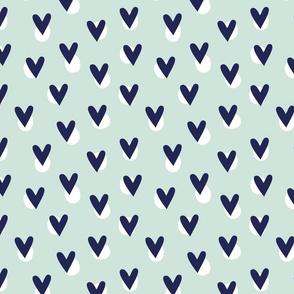 Hearts - Aqua Blue