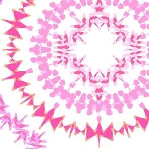 Circle Medley Pink Jumbo print