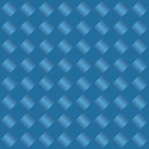 Blue Diamonds-Woven