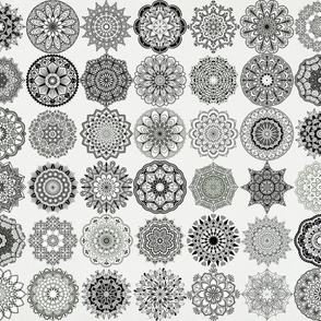 Mandala Medley - white background