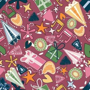 70s jewels pink