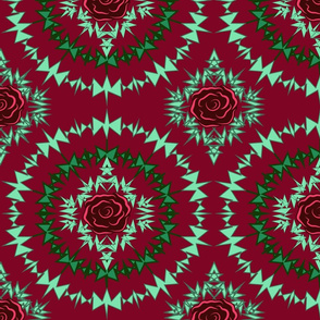 Thorn of Roses red green Large Print