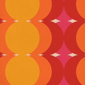 Warm Disco Suns - Large