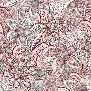 Flower Agates and Leaf agates, blush pink