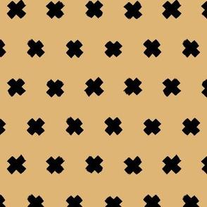 Raw brush x minimal cross plus designs abstract scandinavian style honey ginger yellow