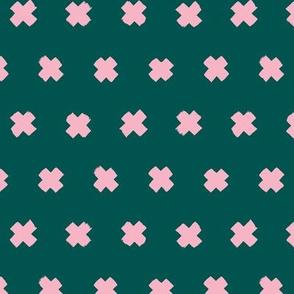 Raw brush x minimal cross plus designs abstract scandinavian style emerald green pink
