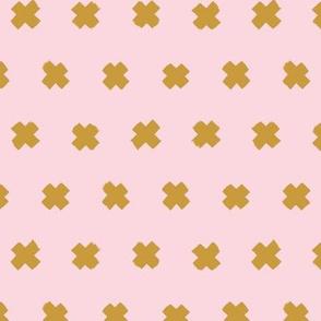 Raw brush x minimal cross plus designs abstract scandinavian style ochre yellow pink