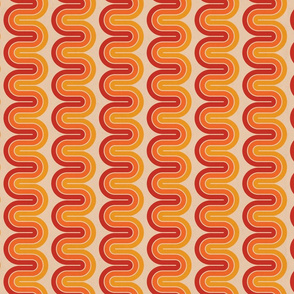 Warm Disco Swirls - Medium