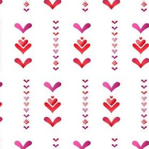 Pink Red Love Hearts