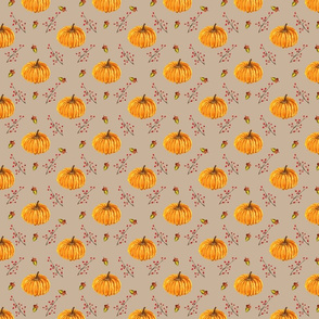 Pumpkins Acorns & Berries