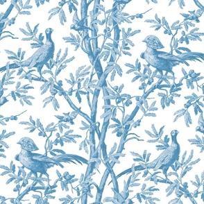 Oiseaux  Chinoiserie Blue
