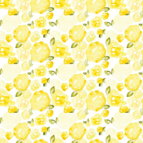 Soft Yellow Watercolor Rose, small