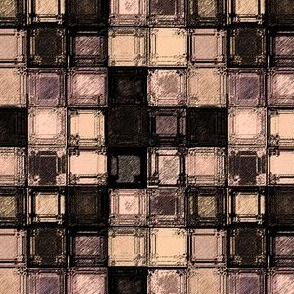 squares in Peach and Black