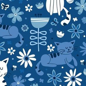 Garden Cats (Classic Blue)