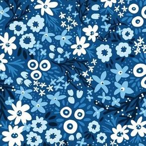 Rustic Wildflowers (Classic Blue)