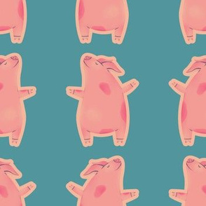 Pigs on Blue