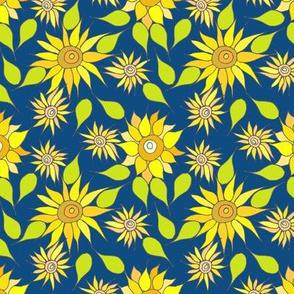 My Sunflowers and blue sky 2020