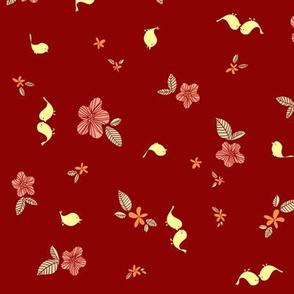 Floral with Birdies