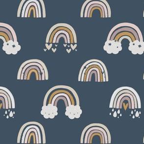 Rainbows_-_summer_on_dark_denim_blue