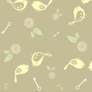 Birds on beige
