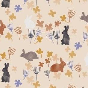 Bunnies in Field