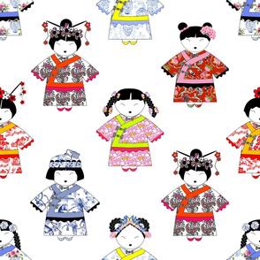 LITTLE CHINA GIRLS on WHITE