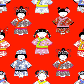 LITTLE CHINA GIRLS on RED
