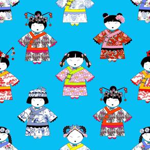LITTLE CHINA GIRLS on BLUE