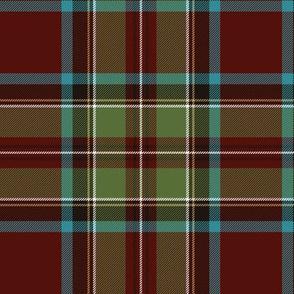 "Royal Stewart / Stuart tartan, 6"" weathered"