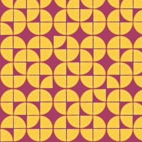 Pop art - freshly squeezed - lemon on hot pink
