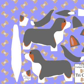 ©2012 Cut & Sew large Cardigan Welsh Corgi - Tri