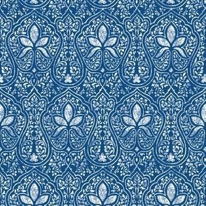 Rajkumari ~ Toujours Blue and White ~ Batik