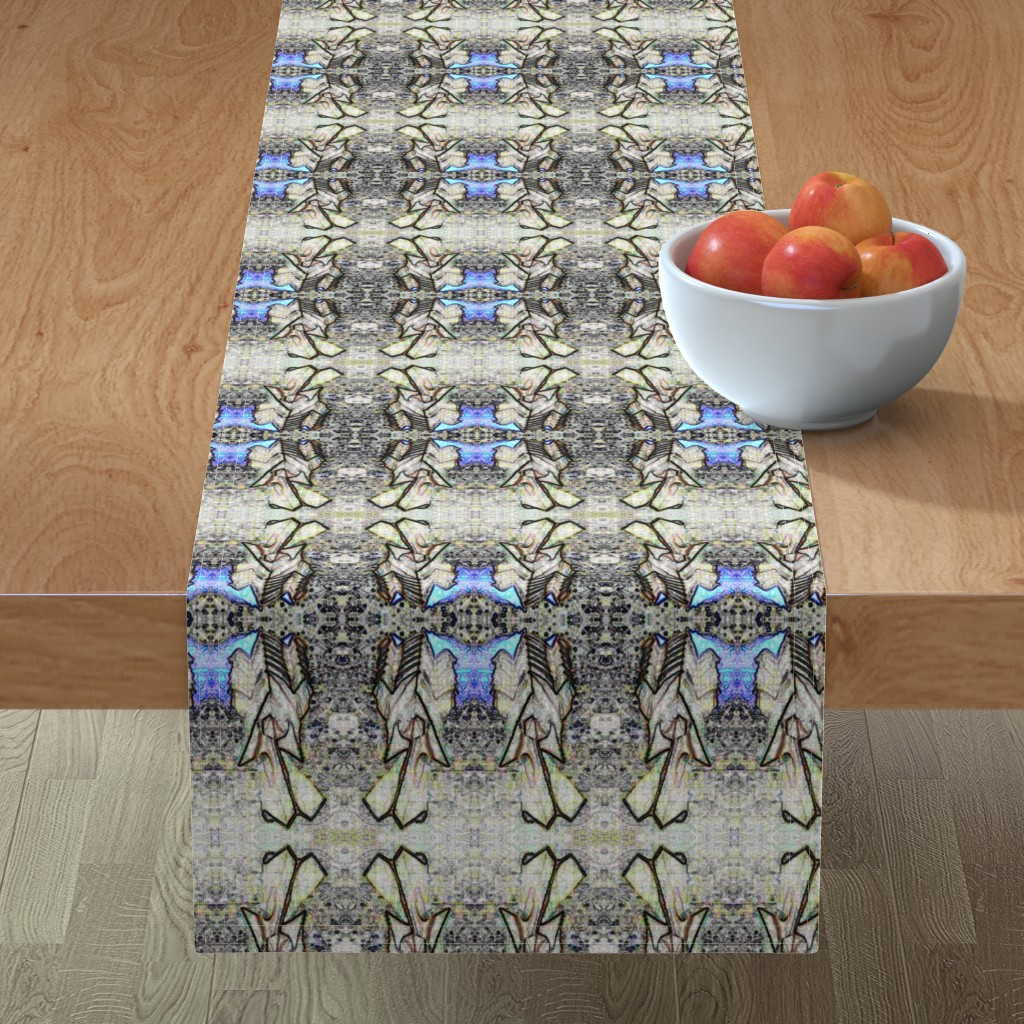 Minorca Table Runner featuring Origami Pet Mandala by quilterscomfort_