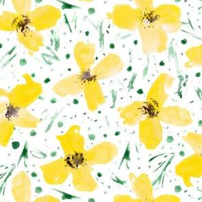 Mustard wonder flowers • watercolor florals