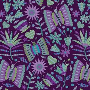 Otomi Butterflies-Blues & Purples