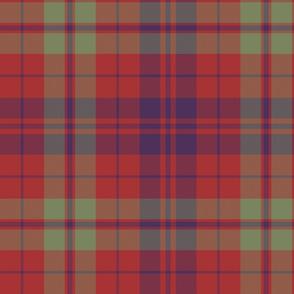 "Lovat or Fraser tartan variant, 12"" muted"