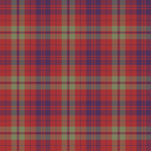 "Lovat or Fraser tartan variant, 6"" muted"