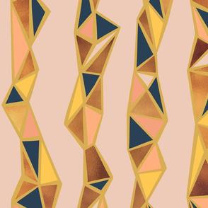 Geometric multi inlay stripe