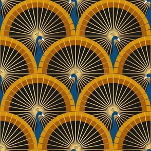 Art Deco Peacocks