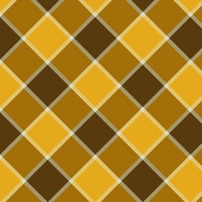 "Jacobite coat check, 6"" diagonal,  golden aspen"