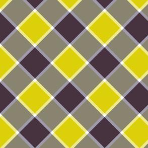 "Jacobite coat check, 6"" diagonal, midsummer"