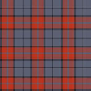 "Dunbar tartan, 6"" slate/weathered red"