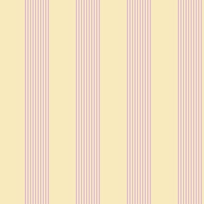pink and cream stripes
