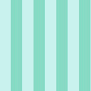 serene stripes (cool mint)