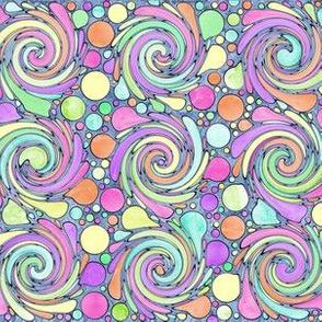polka dots and swirls - pastels