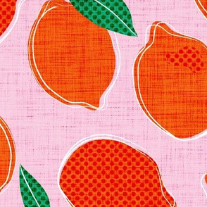 LARGE lemon pop - cotton candy & blood orange