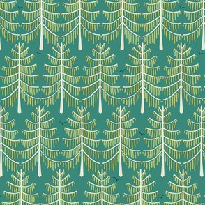 larch forest green medium scale by Pippa Shaw