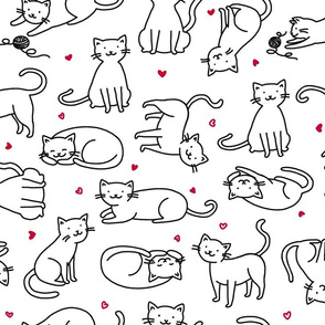 Kitties with Hearts